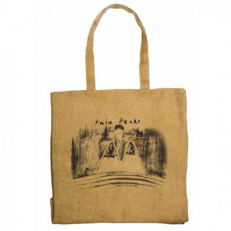 Twin Peaks mountains by David Lynch tote bag