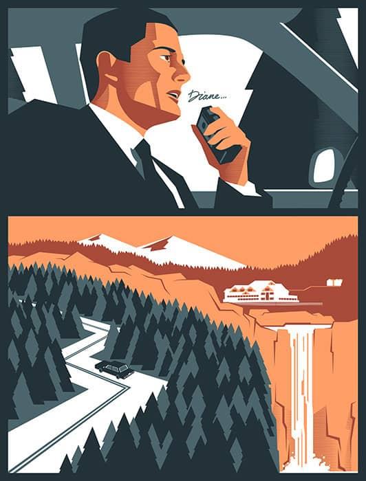 Twin Peaks Diane by Edward Tuckwell