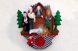 Handmade Twin Peaks felt clock