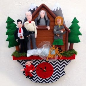 Killer BOB Goes Cuckoo In This Twin Peaks Felt Clock