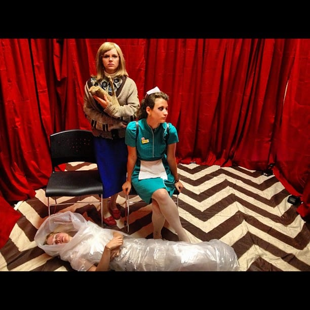 Dead Laura, Log Lady and Shelly in the Black Lodge