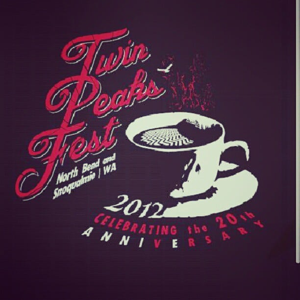 Official Twin Peaks Fest 2012 T-Shirt