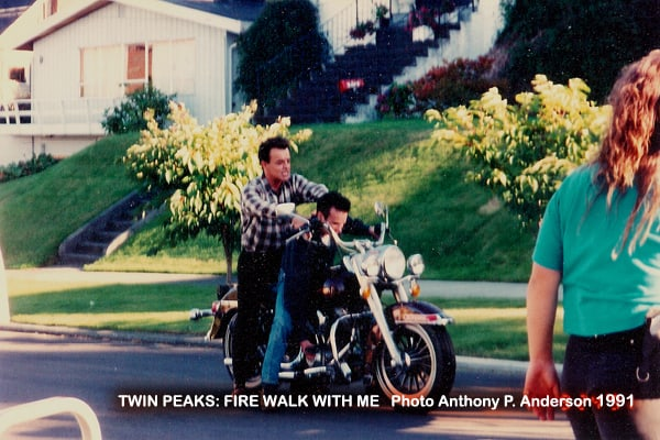 Behind the scenes of Twin Peaks: Fire Walk with Me (photo by Anthony P. Anderson)