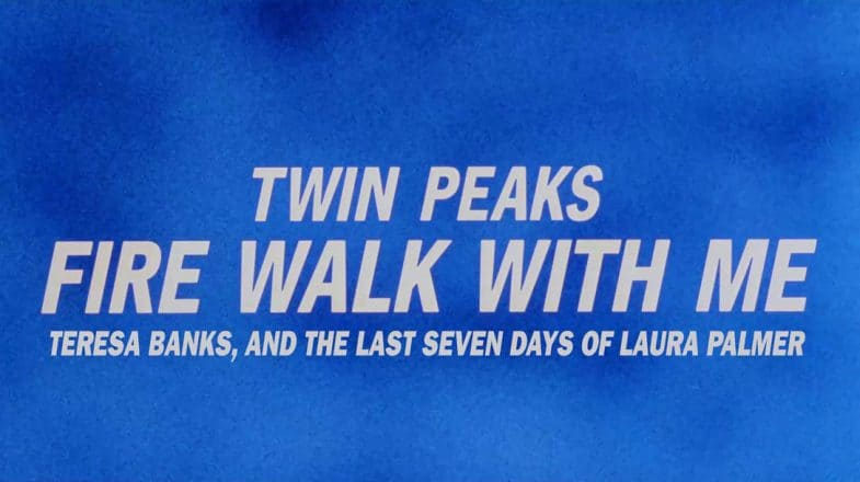 Twin Peaks: Fire Walk with Me - Teresa Banks, and the Last Days of Laura Palmer fan edit by Q2