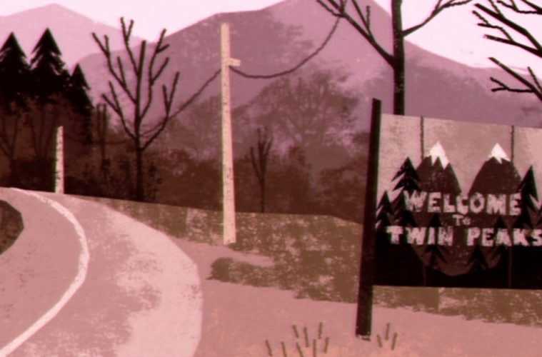 Cute animated Twin Peaks intro remake by Pakoto