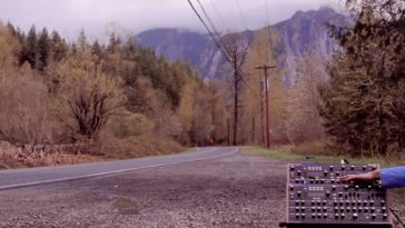 Laura Palmer's Theme on a Novation Peak at a Twin Peaks filming location