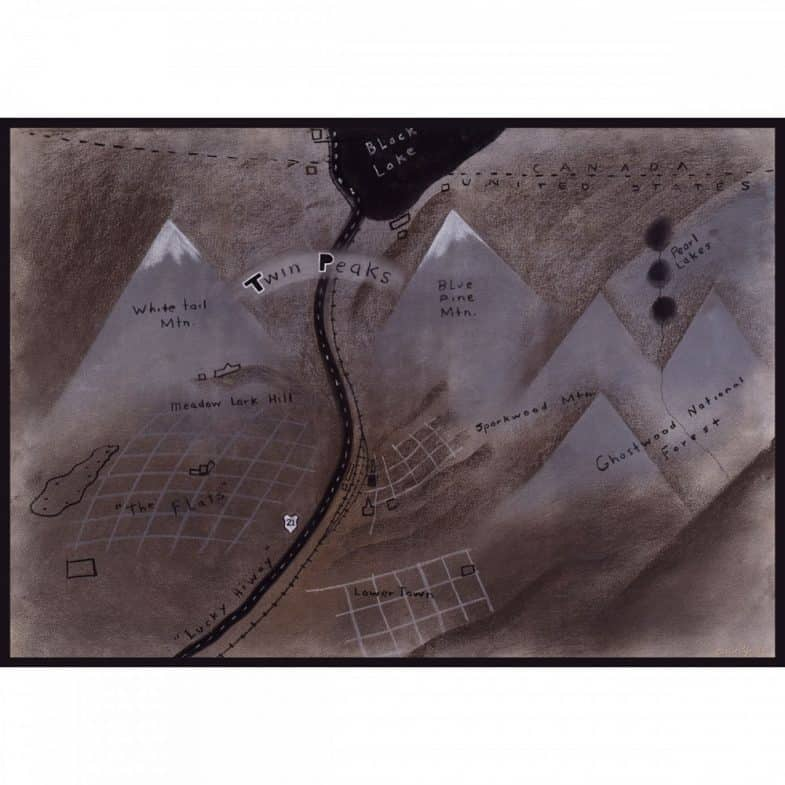 Twin Peaks map by David Lynch giclee