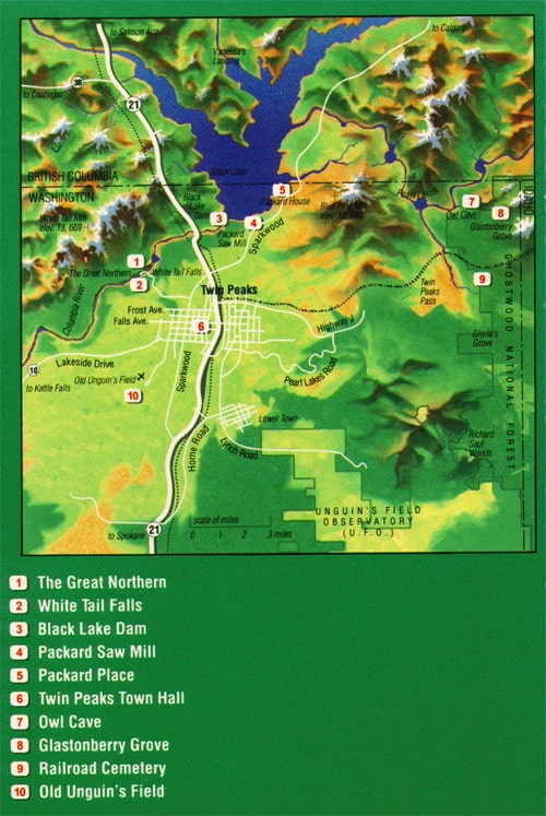 Twin Peaks guide map