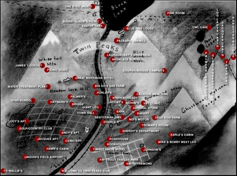 Twin Peaks map by Charles Ramsey