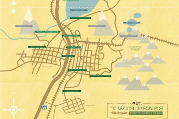 Twin Peaks map by M. Walton Keys