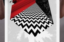 Sun-Ray Cinema's Twin Peaks Marathon poster by Sean Tucker