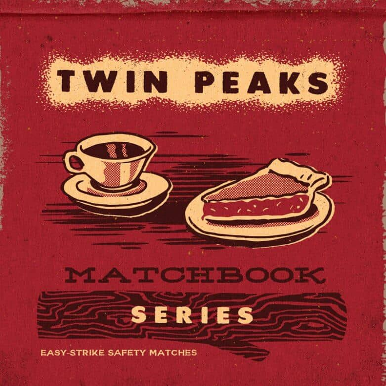 Twin Peaks matchbook series by Steven Rhodes