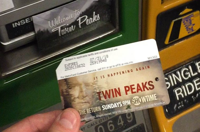 Twin Peaks MetroCard with Dale Cooper