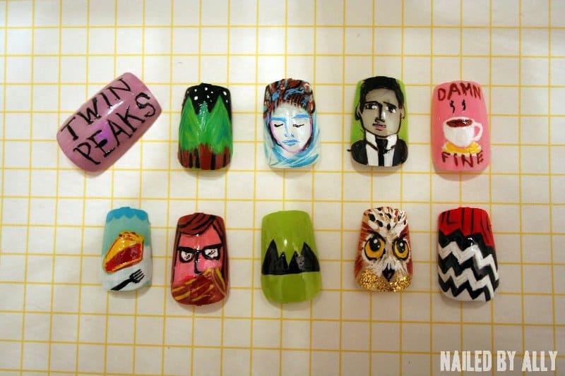 Twin Peaks nail art