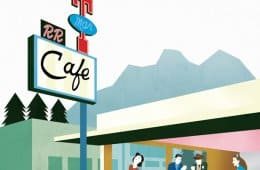Edward Hopper's Nighthawks meets The Twin Peaks Double R Diner