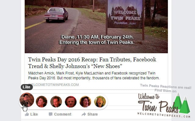 Twin Peaks Reactions for Facebook