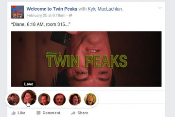 Facebook Reactions: Twin Peaks edition
