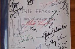 Signed Twin Peaks pilot script