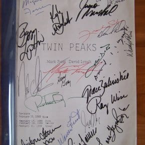 Twin Peaks Pilot Script Signed By 21 Cast Members On eBay
