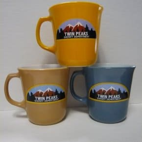 Official 2012 Twin Peaks Merchandise: Sheriff Department & Double R Mugs, Tremond's Doorway Picture