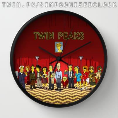 Twin Peaks Simpsonized Clock