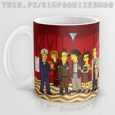 Twin Peaks Simpsons Characters Mug