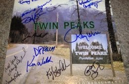 Signed Twin Peaks soundtrack album