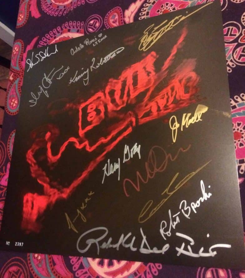 Autographed music from Twin Peaks album