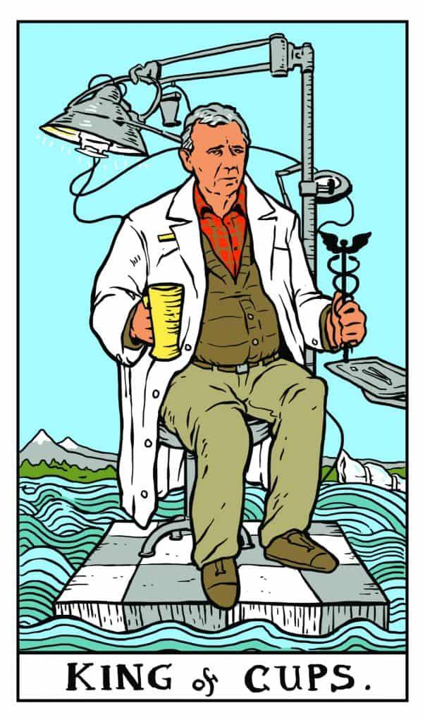 Twin Peaks Tarot: King of Cups