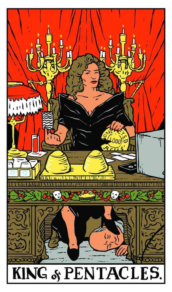 Twin Peaks Tarot: King of Pentacles
