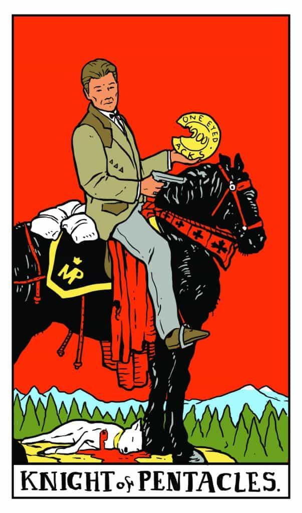 Twin Peaks Tarot: Knight of Pentacles