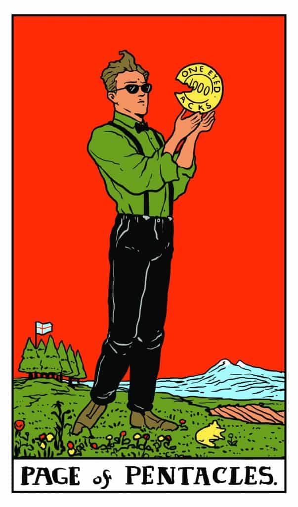 Twin Peaks Tarot: Page of Pentacles
