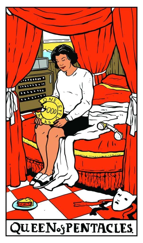 Twin Peaks Tarot: Queen of Pentacles