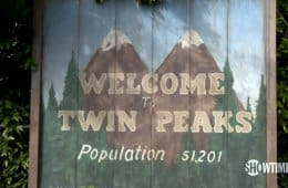 Welcome to Twin Peaks sign, new Twin Peaks