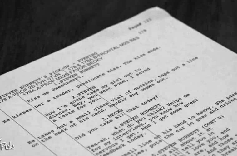Twin Peaks Season 3 Part 5 script page