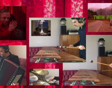 Twin Peaks Theme cover on marimba and accordion