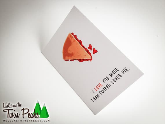Twin Peaks Valentine Card - Cherry Pie