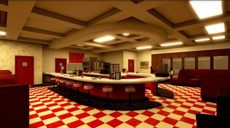 Twin Peaks Virtual Reality VR Experience - RR Diner