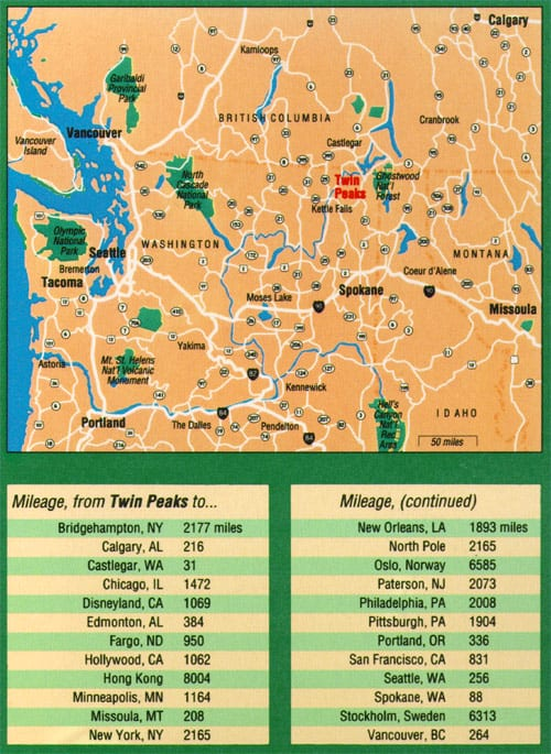 Twin Peaks, Washington map