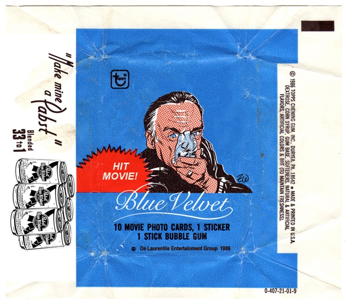 Blue Velvet wax pack by Zack Wallenfang