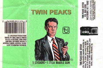 Twin Peaks faux wax pack: sticker & bubble gum featuring Dale Cooper