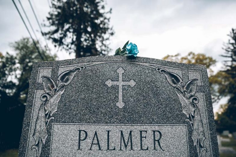 Laura Palmer tombstone / Blue rose