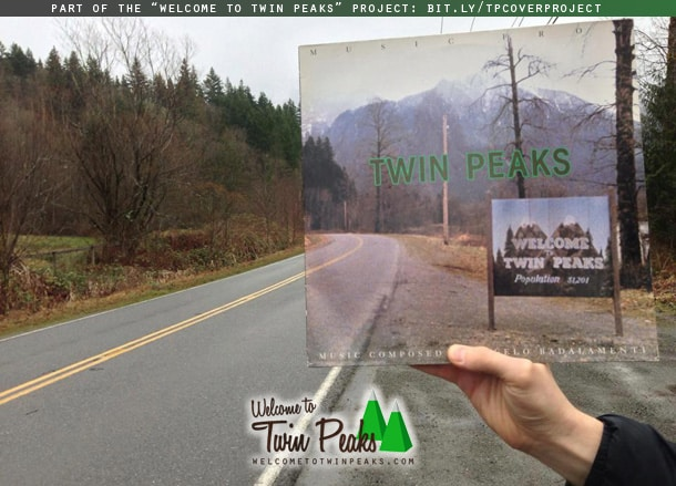 Soundtrack from Twin Peaks LP album cover used in the Welcome to Twin Peaks project
