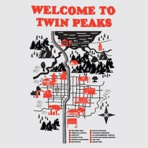 Welcome to Twin Peaks map t-shirt (3)
