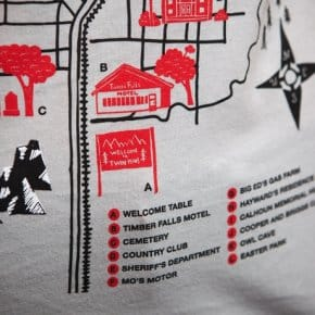 Welcome to Twin Peaks map t-shirt (4)