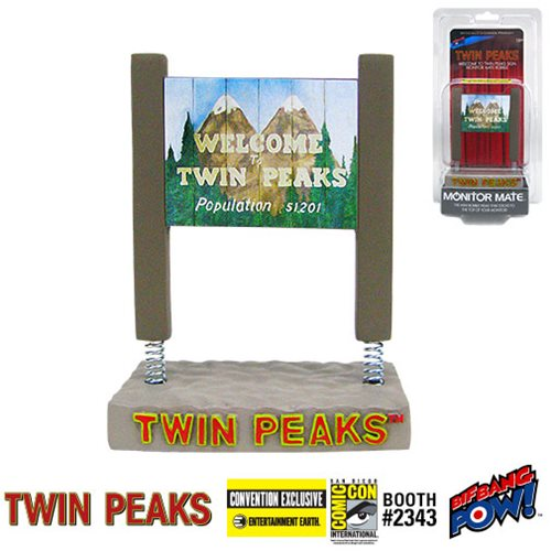 Welcome to Twin Peaks sign desktop bobble