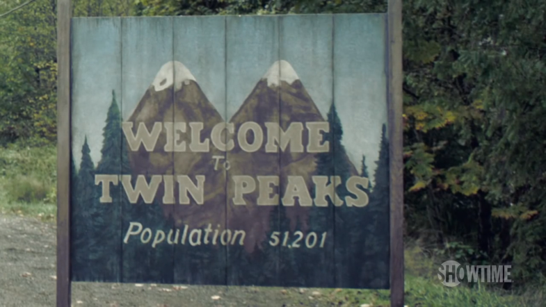 New Welcome to Twin Peaks sign 2017