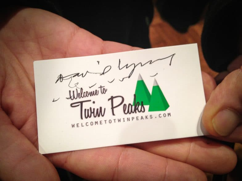 Welcome to Twin Peaks signed