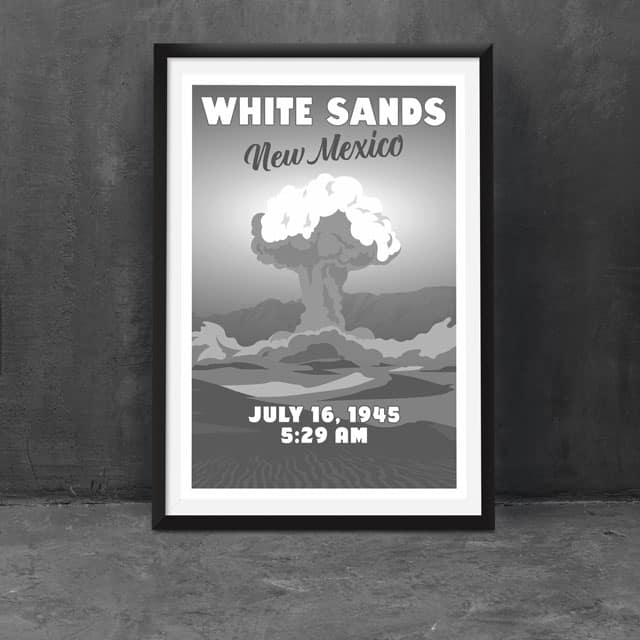 Trinity Test - White Sands, New Mexico (as seen in Twin Peaks, Fallout, etc.)