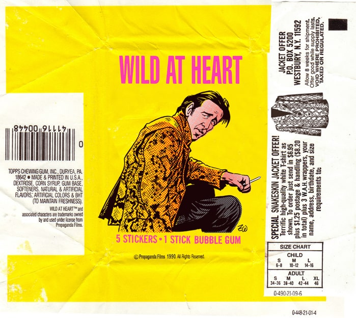 David Lynch's Wild at Heart wax pack